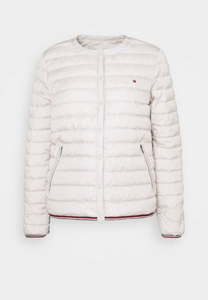 BELLA COLLARLESS - Down jacket - vintage white