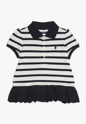 STRIPE  - Polo shirt - hunter navy/nevis