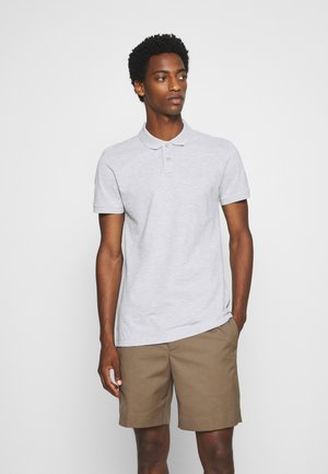 WITH SMALL EMBROIDERY - Polo shirt - light stone grey melange