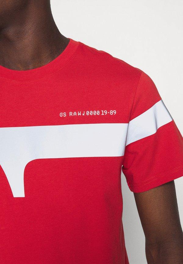 G-Star 1 REFLECTIVE GRAPHIC R T - T-shirt z nadrukiem - dark candy/czerwony Odzież Męska BMEF