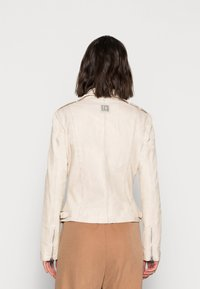 Freaky Nation - NEW UNDRESS ME - Leather jacket - off-white - 2