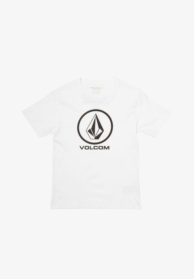 CRISP STONE - Print T-shirt - white