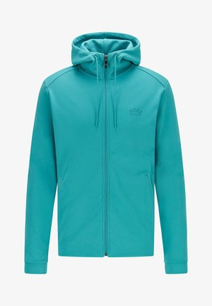 SAGGY - Sweater met rits - turquoise