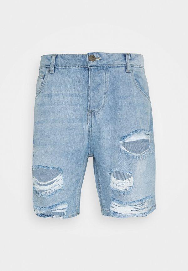 Brave Soul DUKE - Szorty jeansowe - light blue/jasnoniebieski Odzież Męska YSJR