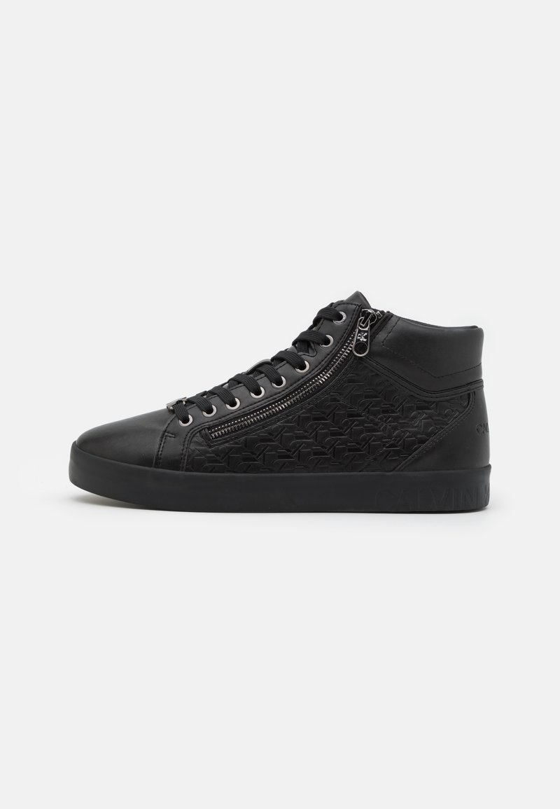 Calvin Klein Jeans - MID LACEUP ZIP  - High-top trainers - full black