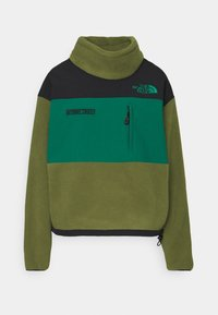 The North Face - STEEP TECH JACKET - Fleecová mikina - burnt olive green/black/evergreen - 7