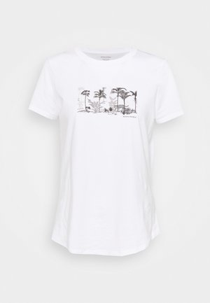 PALM GRAPHIC TEE - T-shirt con stampa - white