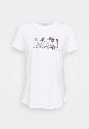 PALM GRAPHIC TEE - Camiseta estampada - white