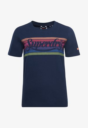 Print T-shirt - nautical navy