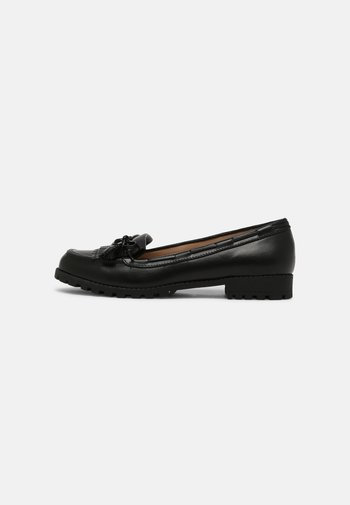 LEXINGTON FRINGE TASSLE LOAFER - Slip-ins - black