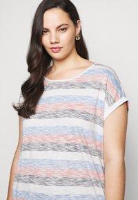 MY TRUE ME TOM TAILOR - INSIDE STRIPE - Print T-shirt - blue/multicolor - 4