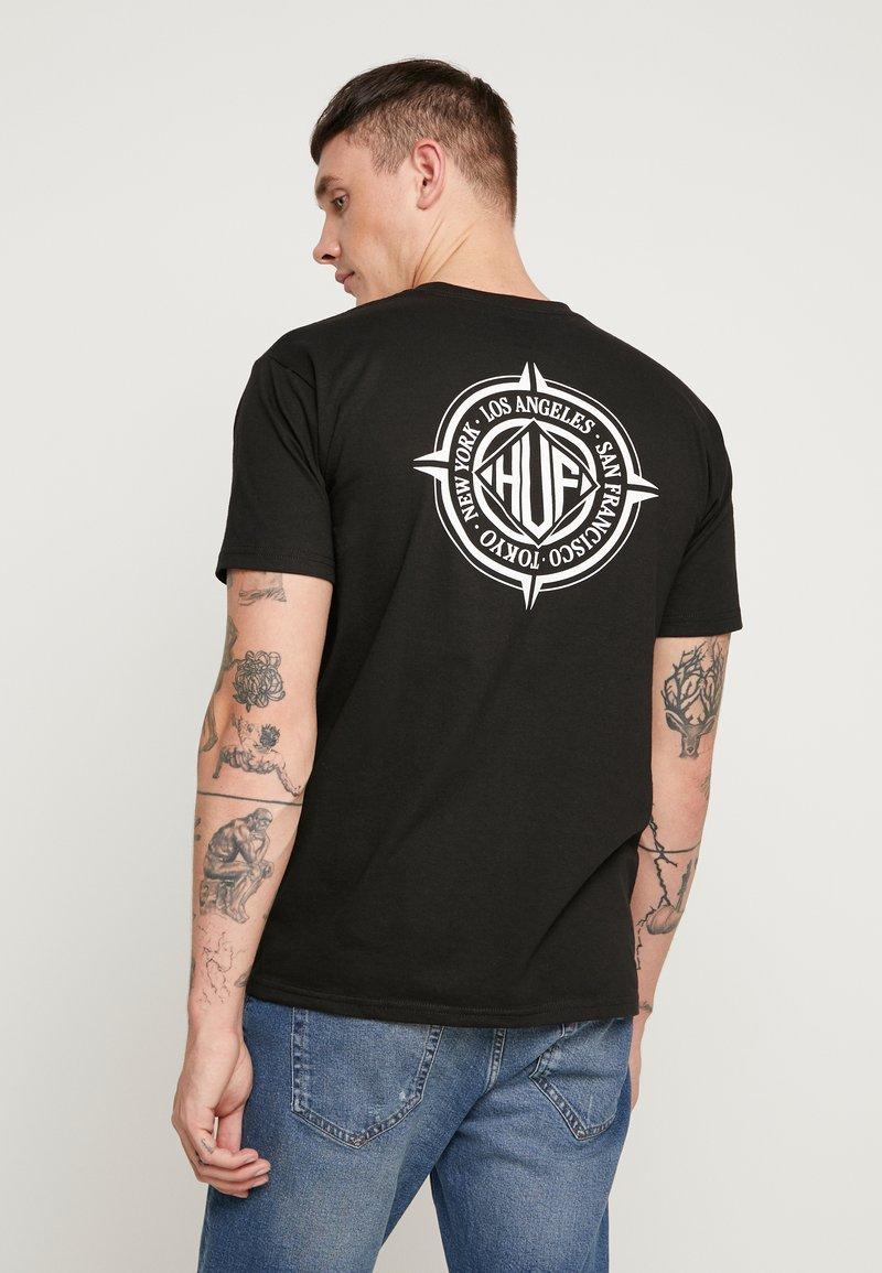 HUF - COORDIANTES TEE - Printtipaita - black