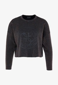 Guess - SHINY ROUNDNECK - Long sleeved top - black/multi - 3