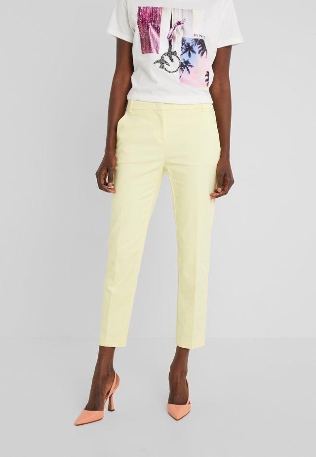 BELLO PANTALONE TECNICO - Pantalon classique - yellow