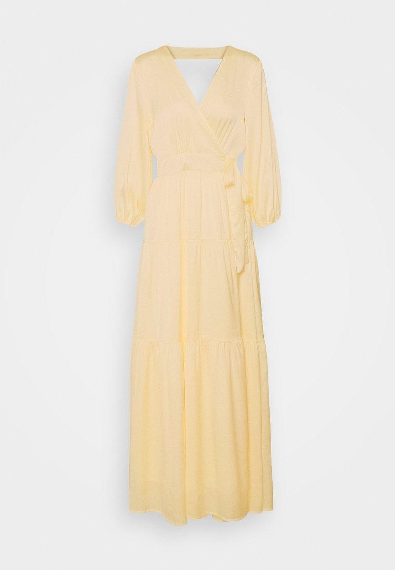 YAS - YASLUMEN WRAP 3/4 - Vestito lungo - transparent yellow