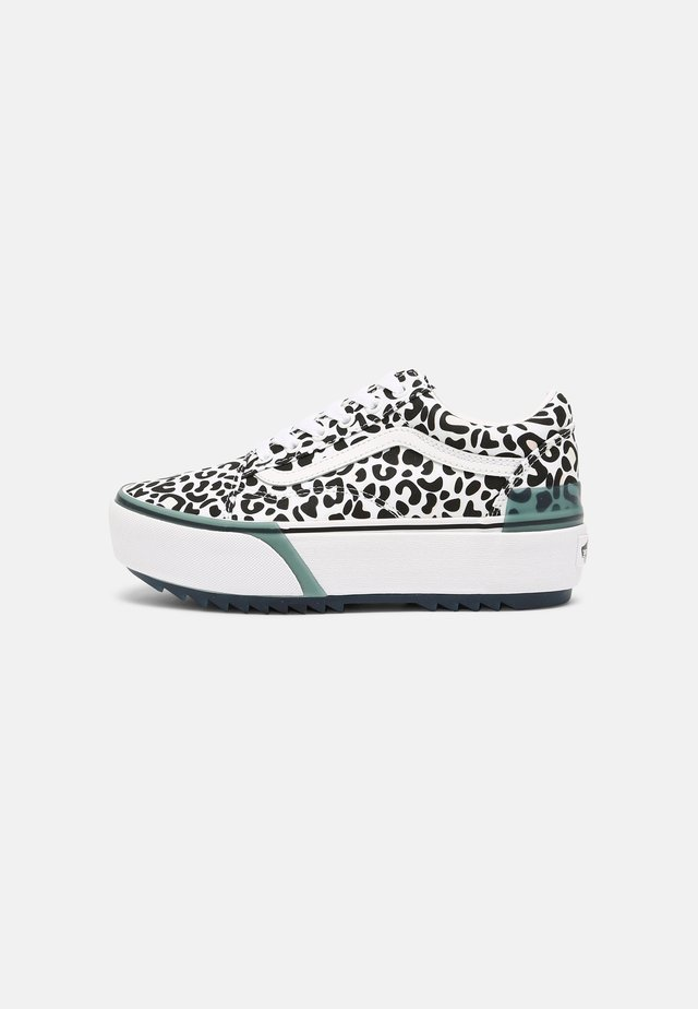 OLD SKOOL STACKED - Sneakers laag - leopard/true white