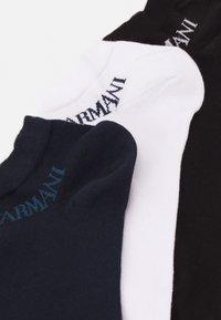Emporio Armani - IN SHOE SOCKS 3 PACK - Socks - nero/blu/bianco - 1