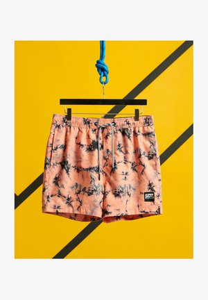 Swimming shorts - coral tie dye