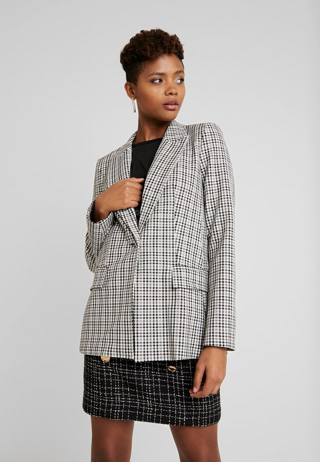 GINGHAM GIRL - Blazer - black/grey