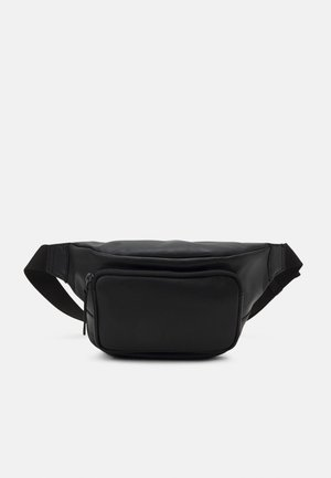 UNISEX LEATHER - Sac banane - black