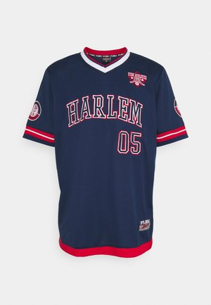 ATHLETICS HARLEM  - Print T-shirt - navy