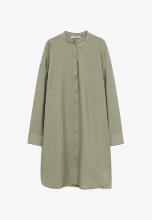 Button-down blouse - mittelbraun