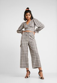 NEW girl ORDER - CHECK PRINT TROUSERS - Spodnie materiałowe - multi - 1