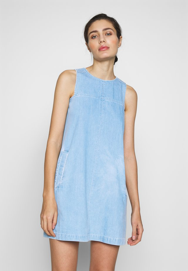 KATE DRESS - Dongerikjole - vintage blue