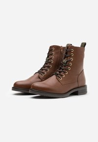 Anna Field - LEATHER CONAN - Lace-up ankle boots - cognac - 2
