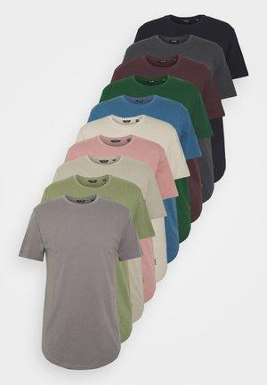 ONSMATT LIFE LONGY TEE 10 PACK - T-shirt basic - dark navy/gray