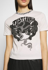 Just Cavalli - Triko spotiskem - off white/black - 4