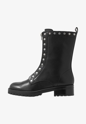 LARA STUDDED COMBAT BOOT - Boots - black
