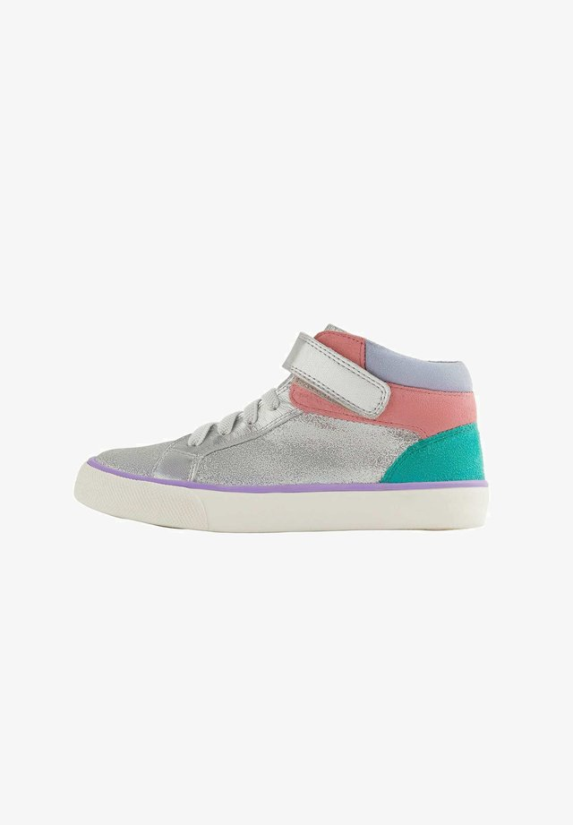 High-top trainers - silber glitzer