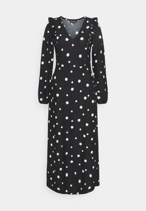 FOCHETTE MIDI SPOT - Jumper dress - black