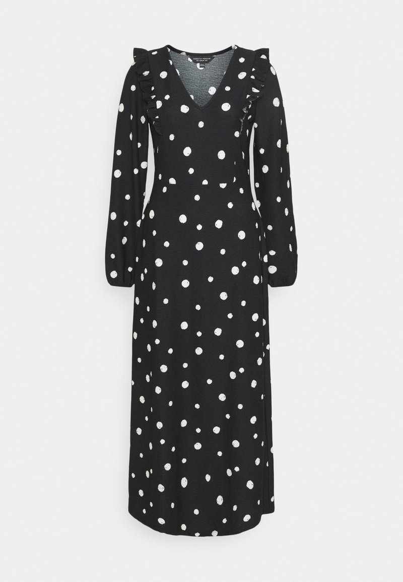 Dorothy Perkins - FOCHETTE MIDI SPOT - Jumper dress - black