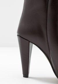 Topshop - VEGAN VILLA BOOT - High heeled ankle boots - burgundy - 2