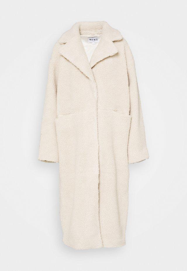 OVERSIZED LONG COAT - Winterjas - light beige