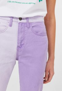 Stradivarius - Relaxed fit jeans - mauve - 3