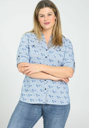 Button-down blouse - indigo