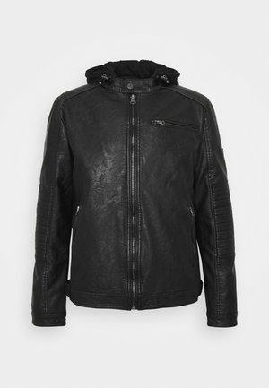 BERRY - Faux leather jacket - black
