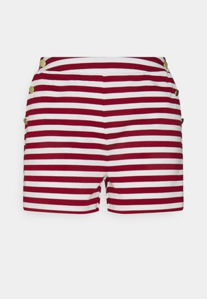 VITINNY BUTTON - Shorts - snow white/red dahlia