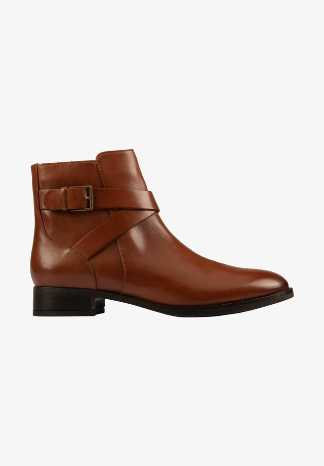 Ankle boot - dark tan lea
