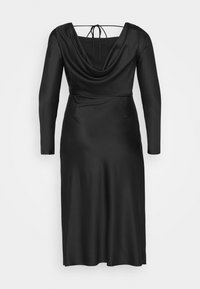 Glamorous Curve - MIDAXI DRESS WITH LONG SLEEVES COWL NECK FRONT AND BACK TIE - Cocktail dress / Party dress - black - 8