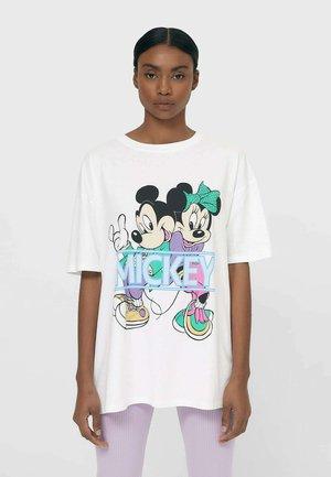 MINNIE UND MICKEY  - Print T-shirt - white