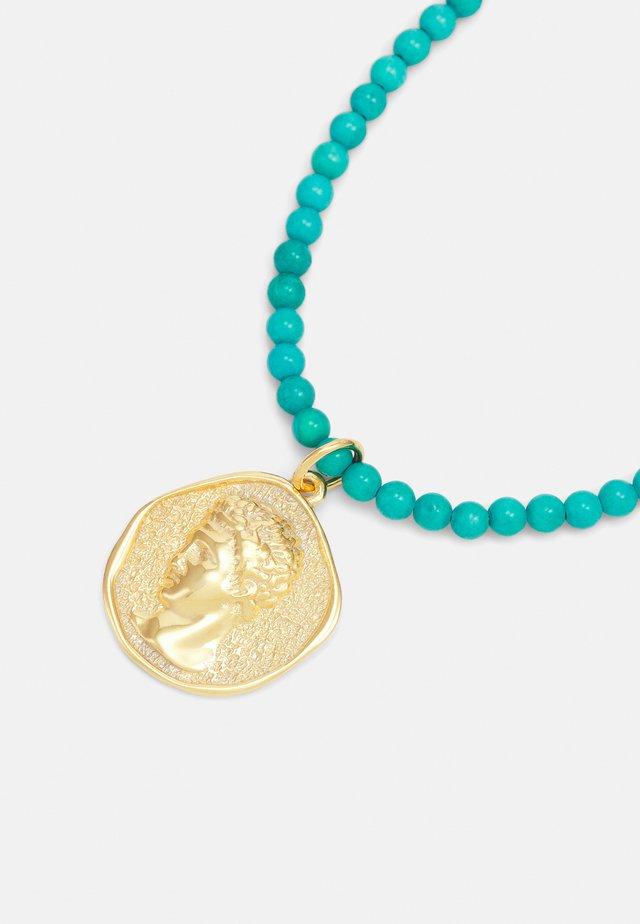 NECKLACE - Náhrdelník - turquoise/gold