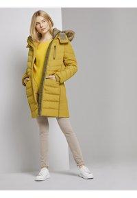 TOM TAILOR - SIGNATURE PUFFER COAT - Winter coat - california sand yellow - 1