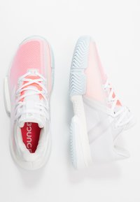 adidas Performance - SOLEMATCH BOUNCE - Multicourt tennis shoes - footwear white/signal pink - 1