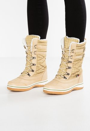 RIVASKA - Winter boots - beige/green/white