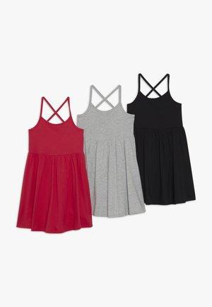 3 PACK - Žerzejové šaty - black