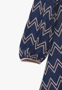 Missoni Kids - DRESS - Pletené šaty - blue - 4
